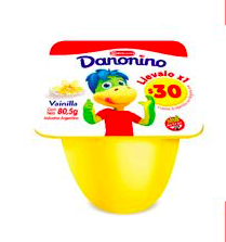 DANONINO yogur vain. x80.5g