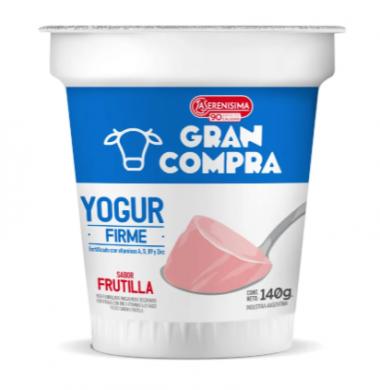 GRAN COMPRA yogur firme frutilla x140g