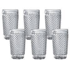 BARROCO vasos vidrio pack x6Un.