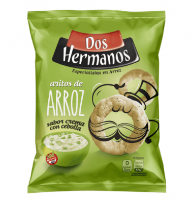 DOS HERMANOS aritos arroz cebolla x80Gra
