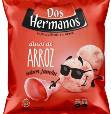 DOS HERMANOS discos arroz jamón x80g