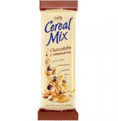 ARCOR cereal mix barra cereal chocolate almendras x23Gra