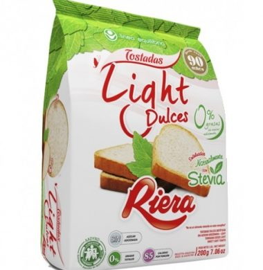 RIERA tost. dulce light x200g