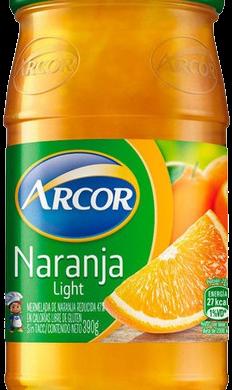 ARCOR mermelada light naranja x390g frasco.