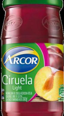ARCOR mermelada light ciruela x390g