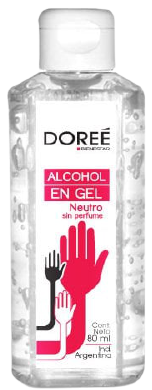 DOREE alcohol gel x80cc