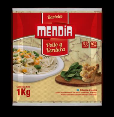 MENDIA ravioles verdura x1kg bolsa