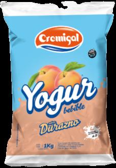 CREMIGAL yogur durazno x1lt.sachet
