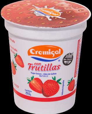 CREMIGAL yogur trozos frutilla x150g