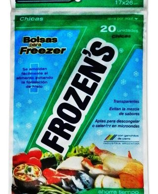 FROZENS bolsas para freezer 17x26cm.x20u.