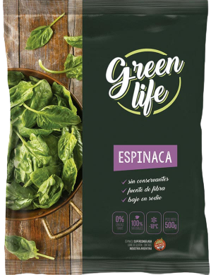 GREEN LIFE espinaca congelada x500g