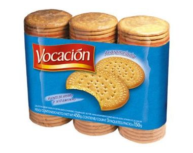 VOCACION galletitas acarameladas x450Gra