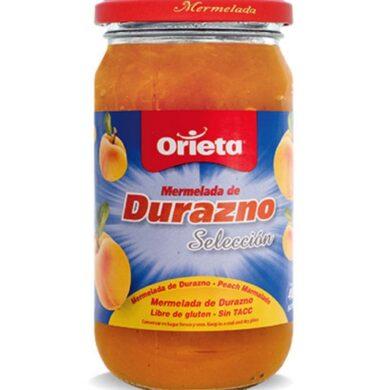 ORIETA mermelada durazno x400g.frasco
