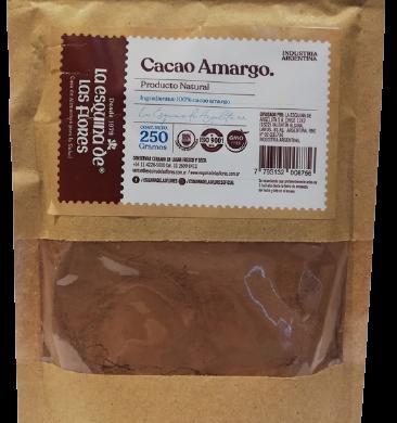 ESQUINA DE LAS FLORES cacao amargo natural x250g
