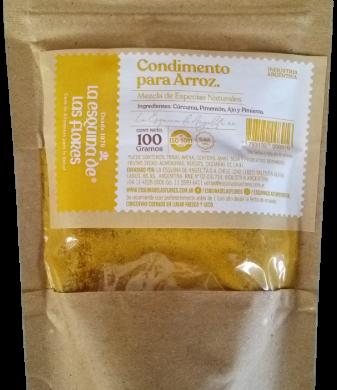 ESQUINA DE LAS FLORES condimento para arroz natural x100g.
