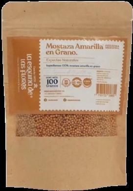 ESQUINA DE LAS FLORES condimento mostaza grano natural x100g