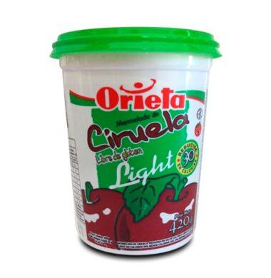 ORIETA mermelada light ciruela x420g.pote