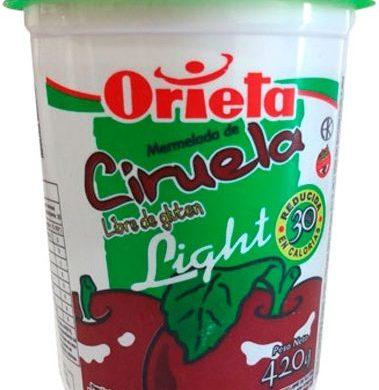 ORIETA mermelada light ciruela pote x420g