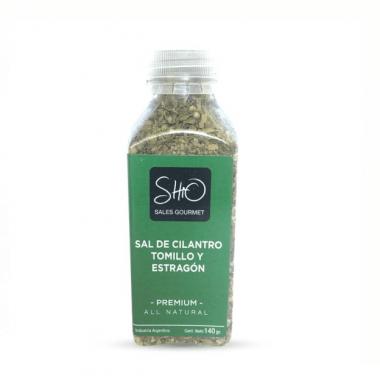 SHIO GOURMET sal de cilantro,tomillo y estragon x140g.