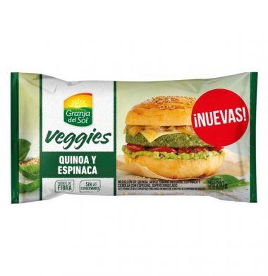 GRANJA SOL hamb. quinoa/esp. x4Un.