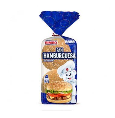 BIMBO pan hamburguesa x4Un.