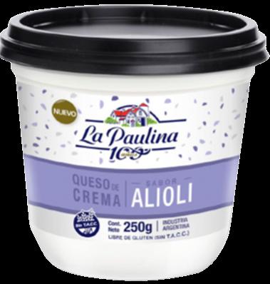 PAULINA queso crema alioli x250g