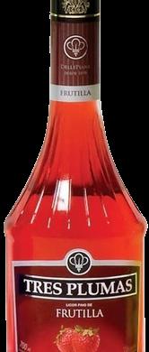 TRES PLUMAS licor frutilla x700cc