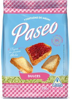 PASEO tost. dulces x200g