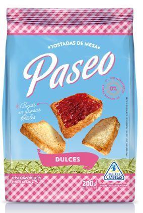PASEO tostadas dulces x200g