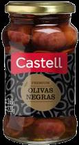 CASTELL aceitunas negras premium x220g