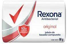 REXONA jabon tocador antibacterial original 3x90g