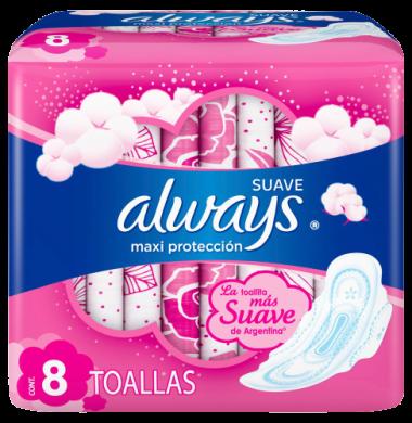 ALWAYS toalla suave maxima proteccion x8Uni