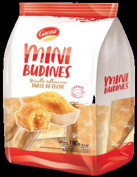 GAONA mini budines vainilla rell dulce de leche
