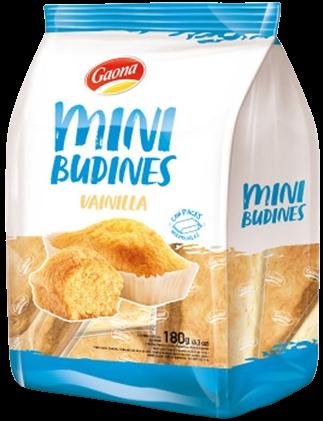 GAONA mini budines vainilla