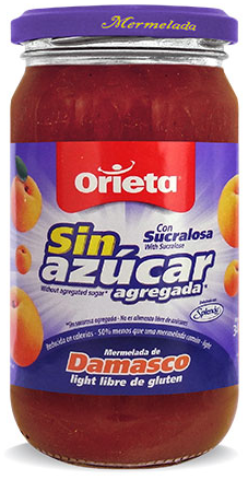 ORIETA mermelada sin azucar damasco x340g