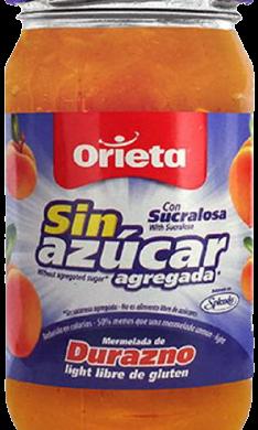 ORIETA mermelada sin azucar durazno x340g