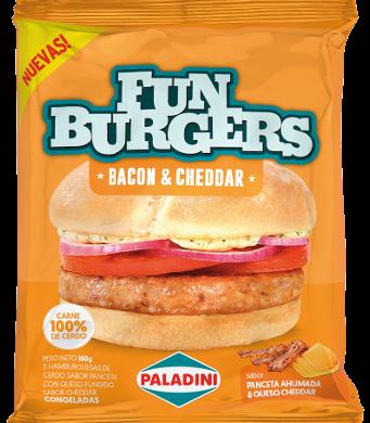 PALADINI hamburg. cerdo bacon cheddar x160g