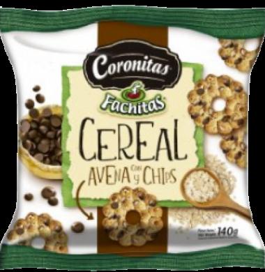 FACHITAS galletita coronita avena y chips x140g