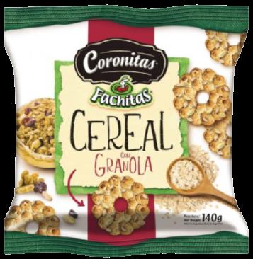 FACHITAS galletitas coronitas granola x140g