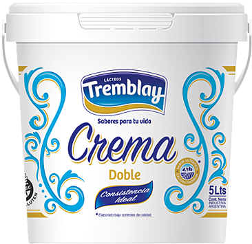 TREMBLAY crema leche balde x5Lt