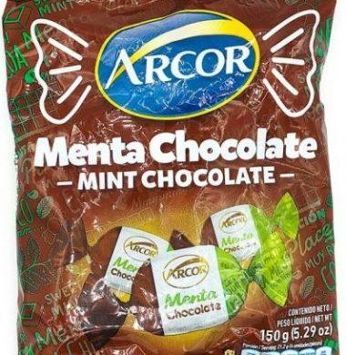 ARCOR caramelos menta chocolate x150g