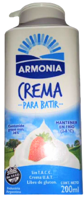 ARMONIA crema leche batir x200cc
