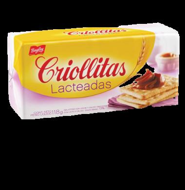 BAGLEY galletita criollitas lacteadas x118g
