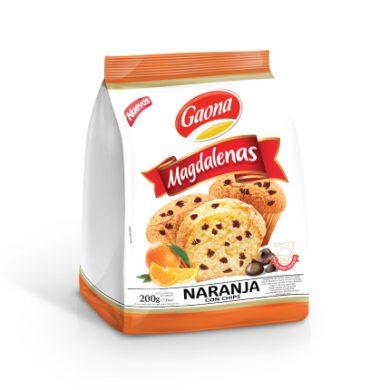 GAONA madalena naranja con chips x200g