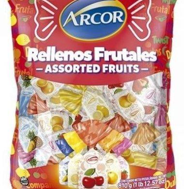 ARCOR caramelos rellenos frutales x150g