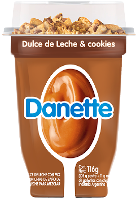 DANETTE postre dulce de leche cookies x116g