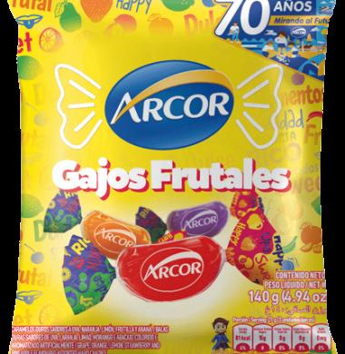 ARCOR caramelos gajitos frutales x140g