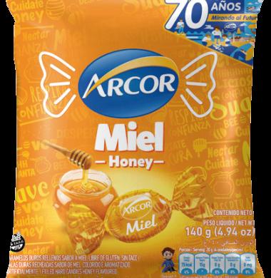 ARCOR caramelos rellenos miel x140g