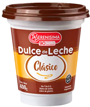 SERENISIMA dulce de leche clasico x400g