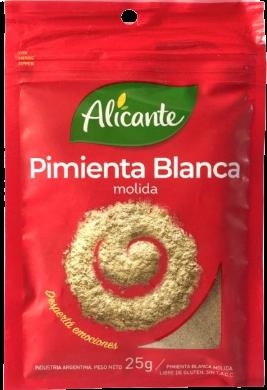 ALICANTE pimienta blanca molida x25g